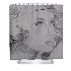 Taylor Swift Shower Curtain by Tanmaya Chugh