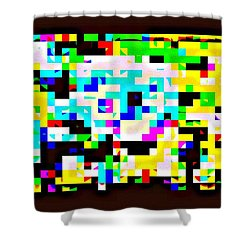 Techno Rainbow Shower Curtain by Andy Rhodes