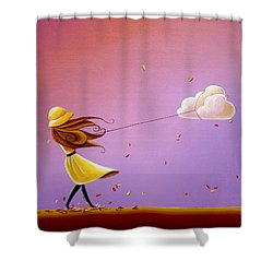 Tempestuous Shower Curtain by Cindy Thornton