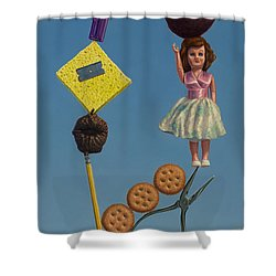 Tenuous Still-life 2 Shower Curtain by James W Johnson