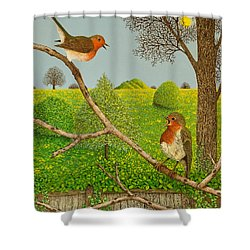 Territorial Rights Shower Curtain by Pat Scott