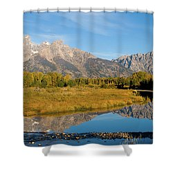 Teton Reflections Shower Curtain by Steve Stuller
