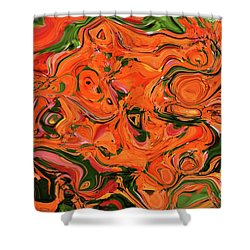 The Abstract Days Of Autumn Shower Curtain by Andee Design
