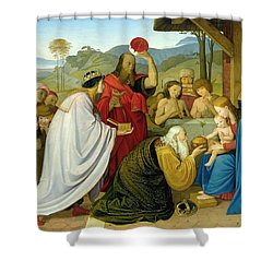 The Adoration Of The Kings Shower Curtain by Bridgeman