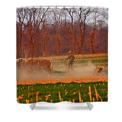 The Amish Way Shower Curtain by Scott Mahon
