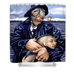 The Ancient Mariner Shower Curtain by Patrick Anthony Pierson