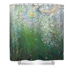 The Angel Of Growth Shower Curtain by Annael Anelia Pavlova