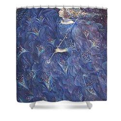 The Angel Of Power Shower Curtain by Annael Anelia Pavlova