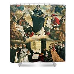 The Apotheosis Of Saint Thomas Aquinas Shower Curtain by Francisco de Zurbaran