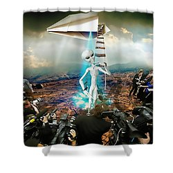 The Arrival Shower Curtain by Marian Voicu