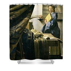 The Artists Studio Shower Curtain by Jan Vermeer