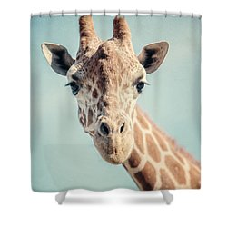 The Baby Giraffe Shower Curtain by Lisa Russo