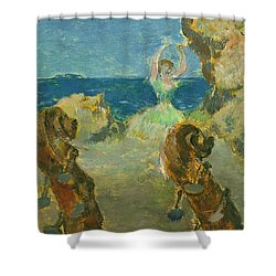 The Ballet Dancer Shower Curtain by Edgar Degas