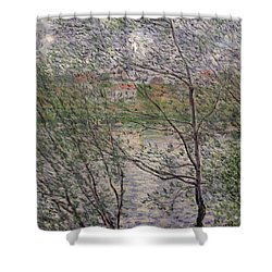 The Banks Of The Seine Shower Curtain by Claude Monet
