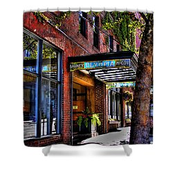 The Barney Mccoy Cafe Shower Curtain by David Patterson