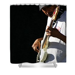 The Bassman Shower Curtain by Joe Kozlowski