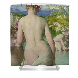 The Bathers Shower Curtain by William Mulready