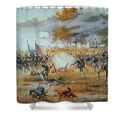 The Battle Of Antietam Shower Curtain by Thure de Thulstrup