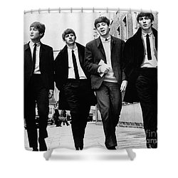 The Beatles Shower Curtain by Granger