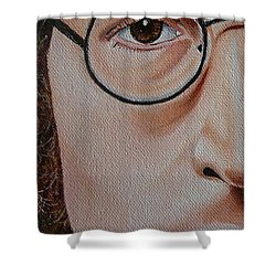 The Beatles John Lennon Shower Curtain by Vic Ritchey