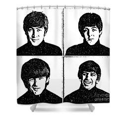 The Beatles No.13 Shower Curtain by Caio Caldas