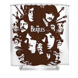 The Beatles No.15 Shower Curtain by Caio Caldas