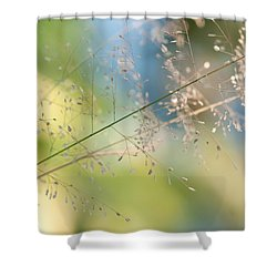 The Beauty Of The Earth. Natural Watercolor Shower Curtain by Jenny Rainbow