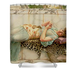 The Betrothed Shower Curtain by John William Godward
