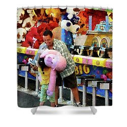 The Big Prize Shower Curtain by Susan Savad