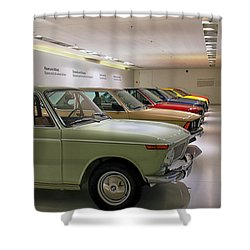 The Bmw Line Up Shower Curtain by Lauri Novak
