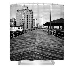The Boardwalk Shower Curtain by Linda Sannuti