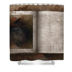 The Book Of Life Shower Curtain by Ron Jones