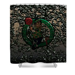 The Boston Celtics 1c Shower Curtain by Brian Reaves