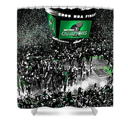 The Boston Celtics 2008 Nba Finals Shower Curtain by Brian Reaves