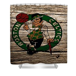 The Boston Celtics W1 Shower Curtain by Brian Reaves