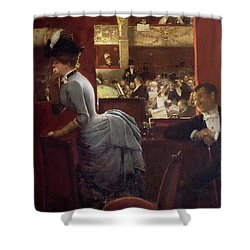 The Box By The Stalls Shower Curtain by Jean Beraud