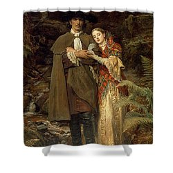 The Bride Of Lammermoor Shower Curtain by Sir John Everett Millais