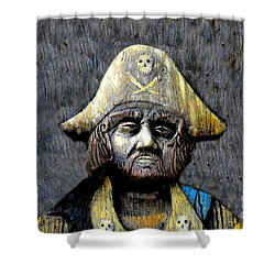 The Buccaneer Shower Curtain by David Lee Thompson