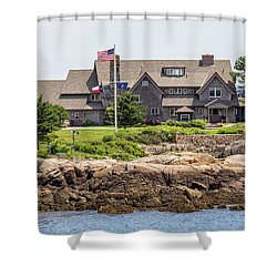 The Bush Compound Kennebunkport Maine Shower Curtain by Brian MacLean
