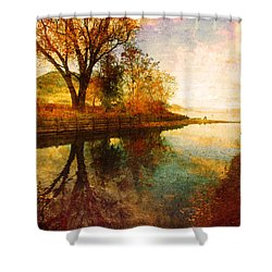 The Calm By The Creek Shower Curtain by Tara Turner