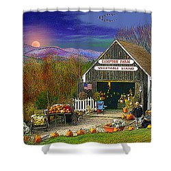 The Campton Farm Shower Curtain by Nancy Griswold