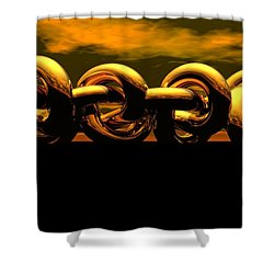 The Chain Shower Curtain by Robert Orinski