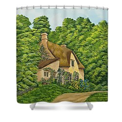 The Charm Of Wiltshire Shower Curtain by Charlotte Blanchard