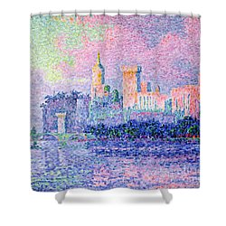 The Chateau Des Papes Shower Curtain by Paul Signac