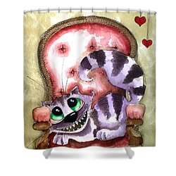 The Cheshire Cat - Lovely Sofa Shower Curtain by Lucia Stewart