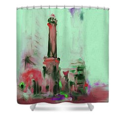 The Chicago Water Tower 535 4 Shower Curtain by Mawra Tahreem