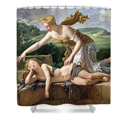The Child Of Fortune Shower Curtain by Pierre Bouillon