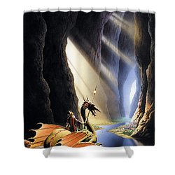 The Citadel Shower Curtain by The Dragon Chronicles - Steve Re