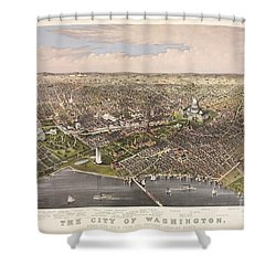 The City Of Washington Shower Curtain by Charles Richard Parsons