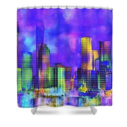 The City  Sydney Shower Curtain by Kurt Van Wagner